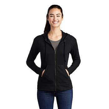 Sport-Tek  ®  Ladies PosiCharge  ®  Tri-Blend Wicking Fleece Full-Zip Hooded Jacket LST293