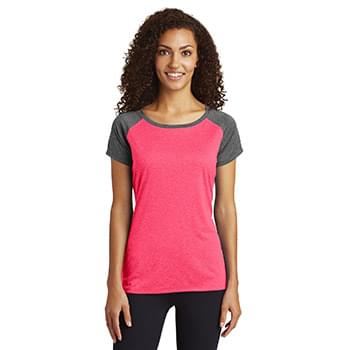 Sport-Tek  ®  Ladies Heather-On-Heather Contender  ™  Scoop Neck Tee. LST362