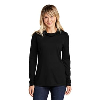 Sport-Tek  ®  Ladies PosiCharge  ®  Tri-Blend Wicking Long Sleeve Hoodie LST406