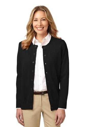 Port Authority ®  Ladies Value Jewel-Neck Cardigan Sweater. LSW304