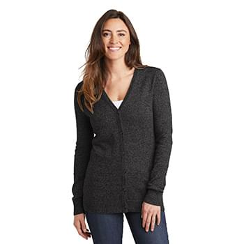 Port Authority  ®  Ladies Marled Cardigan Sweater. LSW415