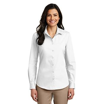 Port Authority ®  Ladies Long Sleeve Carefree Poplin Shirt. LW100