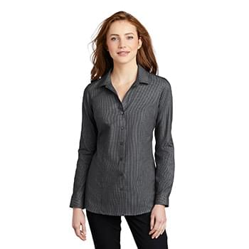 Port Authority  ®  Ladies Pincheck Easy Care Shirt LW645