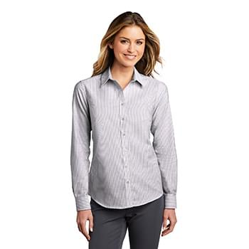 Port Authority  ®  Ladies SuperPro  ™  Oxford Stripe Shirt. LW657