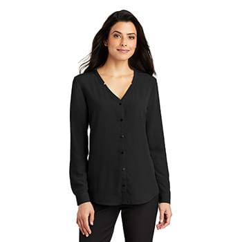 Port Authority ®  Ladies Long Sleeve Button-Front Blouse. LW700