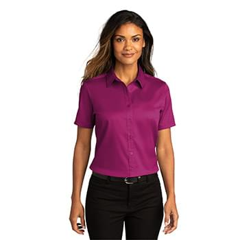 Port Authority ®  Ladies Short Sleeve SuperPro ™ React ™ Twill Shirt. LW809