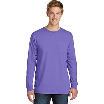 Port & Company ®  Beach Wash ™  Garment-Dyed Long Sleeve Pocket Tee  PC099LSP