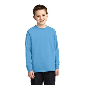 Port & Company ®  Youth Long Sleeve Core Cotton Tee. PC54YLS