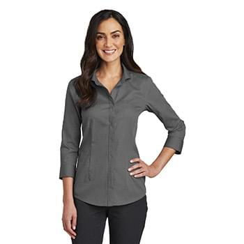 Red House ®   Ladies 3/4-Sleeve Nailhead Non-Iron Shirt. RH690