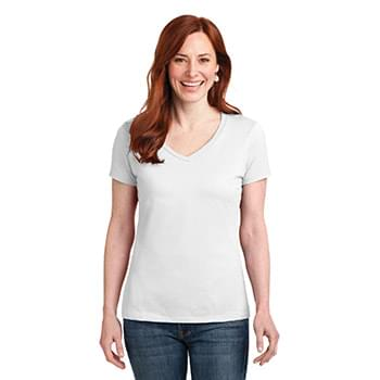 Custom Hanes® Ladies Nano-T® Cotton V-Neck T-Shirt