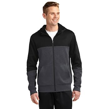 Sport-Tek ®  Tech Fleece Colorblock Full-Zip Hooded Jacket. ST245