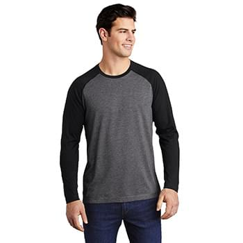 Sport-Tek  ®  PosiCharge  ®  Long Sleeve Tri-Blend Wicking Raglan Tee ST400LS