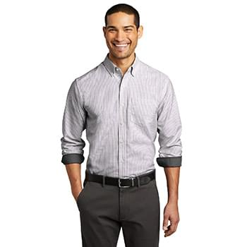 Port Authority  ®  SuperPro  ™  Oxford Stripe Shirt. W657