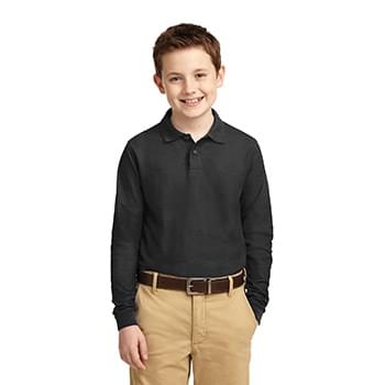 Port Authority ®  Youth Long Sleeve Silk Touch™ Polo.  Y500LS