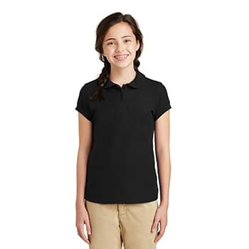 Port Authority ®  Girls Silk Touch ™  Peter Pan Collar Polo. YG503