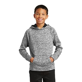 Sport-Tek ®  Youth PosiCharge ®  Electric Heather Fleece Hooded Pullover. YST225