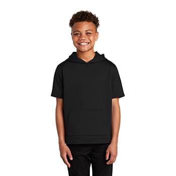Sport-Tek  ®  Youth Sport-Wick  ®  Fleece Short Sleeve Hooded Pullover. YST251