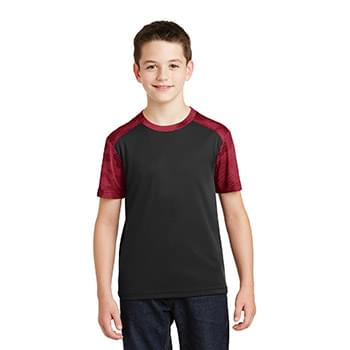 Sport-Tek ®  Youth CamoHex Colorblock Tee. YST371